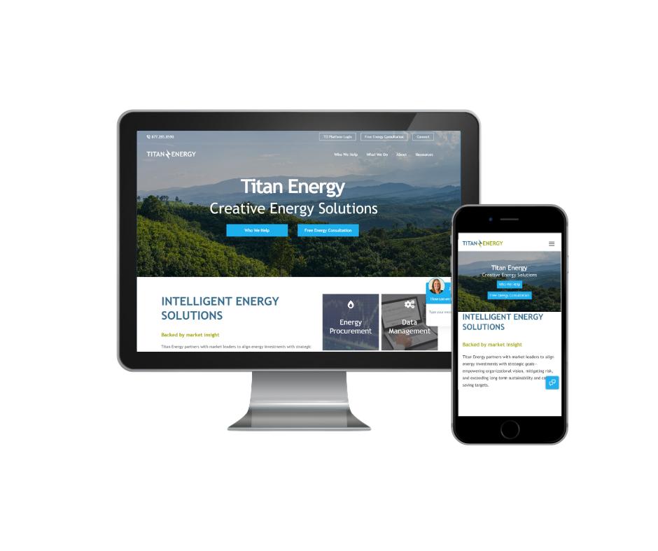 Titan Energy New Website Screen grab